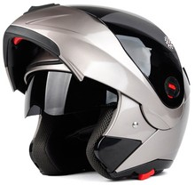 Double visors street bike motorcycle flip up cascos moto helmet
