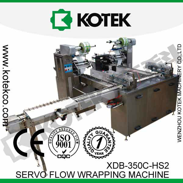 Automatic Horizontal Flow Ice Lolly Packing Equipment Pillow Package Ice Cream Bar Packaging Machine