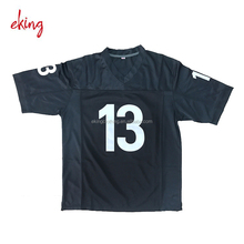 Custom made American football jersey with embroidered logo and name