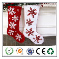 Christmas supplier soft socks felt christmas hanging decorations online shop china