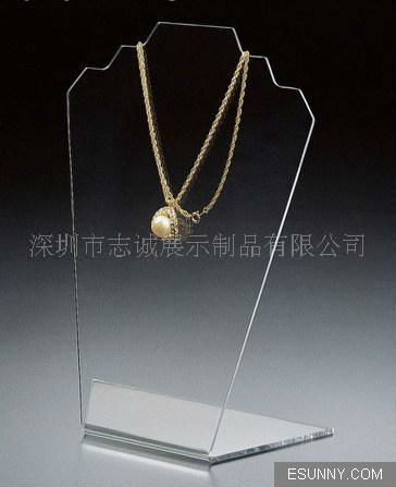 Wholesale elegant acrylic jewelry display/holder for necklace