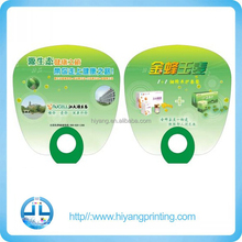 Customize fashion foldable pp hand fan advertising plastic round fan plastic promotion gift