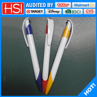 promotional colorful plastic ball pen, click pen for custom logo
