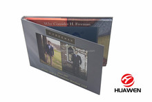 Customized 7 inch TFT LCD Screen Hard Cover video folder brochure