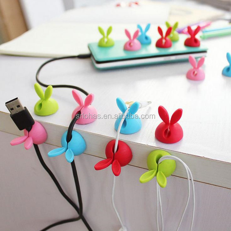 newest cheap silicone rubber earphone cable winder cable organizer