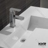 Cheap quality solid surface stone bathroom hindware wash basin
