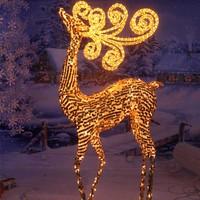 Outdoor lighted deer