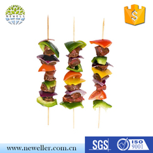 Wholesale direct factory natural color golf shape paddle fruit picks in shaped box