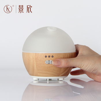 Health Care Product with LED Color Light WOOD + GLASS Ultrasonic Aroma Diffuser Nebulizing Diffuser