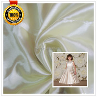 2014 new style garment fabric wholesale satin fabric for flower girl dress for wedding