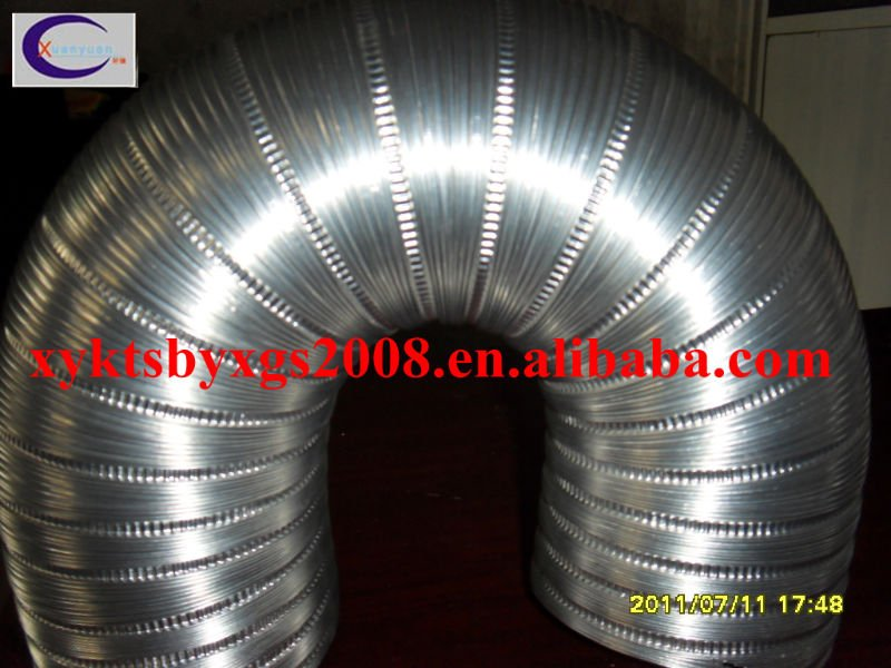 Semi-rigid aluminum foil flexible pipe flexible aluminum air duct heating and cooling systems