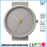 Newest watch design stainless steel case grey ceramic band german watch design