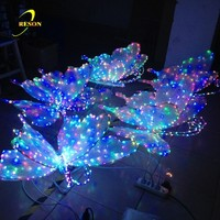 Lighted Butterfly Animal Theme Motif Sculpture Light Decoration