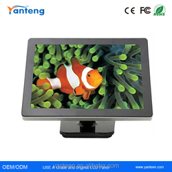 Black plastic casing 21.5inch USB touchscreen monitor with IR touch screen