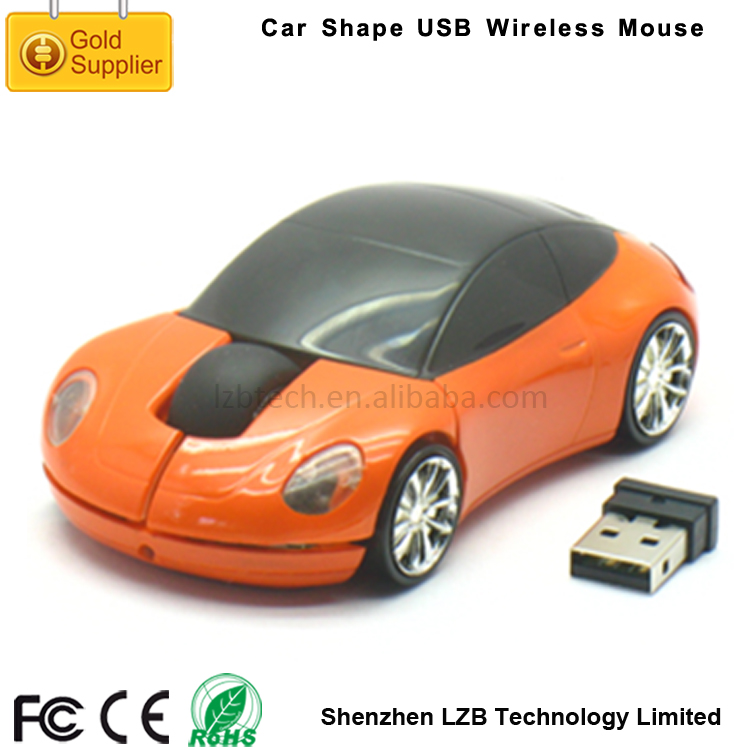Free Driver Plug and Play Mini Promotional Design 2.4G USB Optical Cordless Computer Mouse Car Shape Wireless Mouse