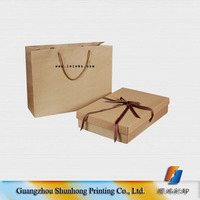 cheap recycled paper bag printing /brown paper bag printing