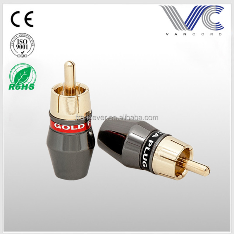 Audio RCA Male Connector RCA Plug Gold plated