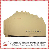 Hot sale brown kraft recycle printing paper gift envelope