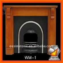 Hand Carved Modern Wood Fireplaces Mantel