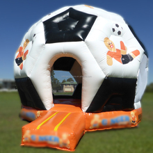 2017 new soccer themed inflatable bounce house commercial used bounce houses party jumpers for sale