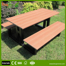 Pass CE certificate High Quality all weather furniture Patio composite wood garden furniture