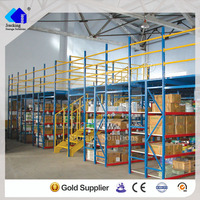 Heavy duty warehousing shelf multi-level mezzanine grating