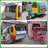 mobile motorcycle food cart/motorcycle food van/motorcycle food trailer for sale