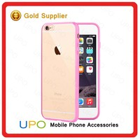 [UPO] 2016 Fashion Designer Soft Clear Transparent TPU + PC Mobile Phone Case For Apple iPhone 6