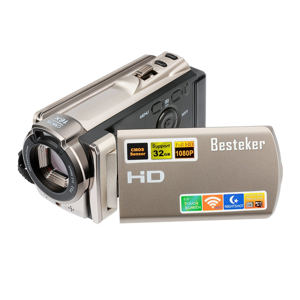 Manufacturer Besteker FHD 1080P IR Night Vision 20.0 MP <strong>3</strong>.0 Rotation Screen WIFI Digital HDV Camcorder