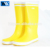 HIgh Quality Wellies Women Yellow Half Knee Rubber Rain Boot for sale