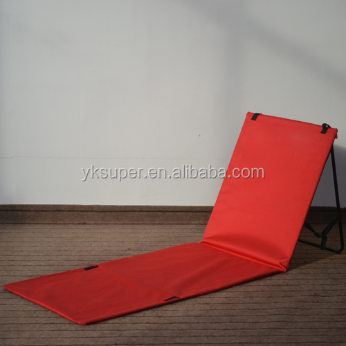 Hot products padded foldable beach mat with backrest