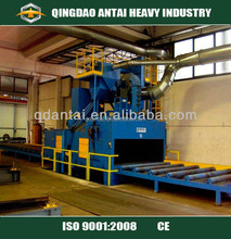 Q69 Roller bed tunnel type shot blasting machine/shot blast equipment