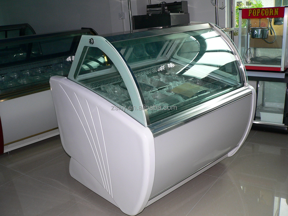 italian ice cream display freezer with CE Approval(ASPERA Compressor)