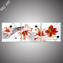 Wall hanging picture canvas lily flower wall art artwork painting