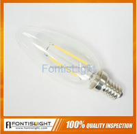 2016 E14 LED filament candle/E12 LED bulb 2W & LED filament candle bulb 2W own the best price with high quality