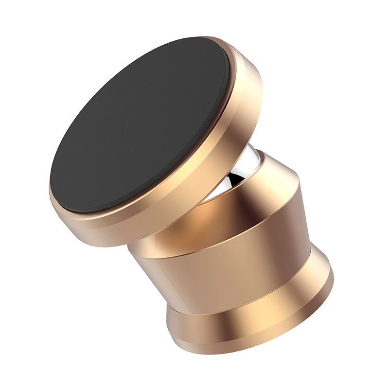 high quality golden colour magnetic car phone holder metal zinc alloy mobile phone car mount for car nanjing