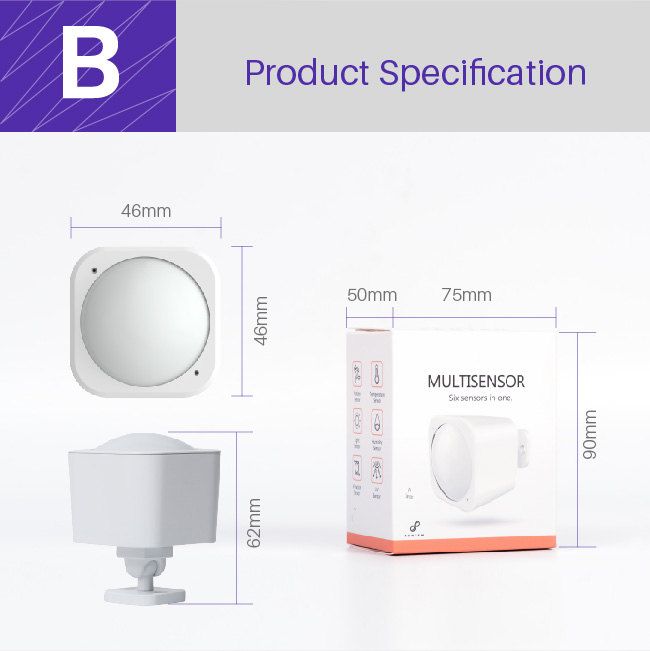 Intelligent home alarm sensor with Z-wave plus certificate