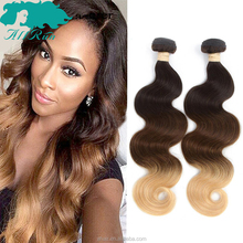 wholesale Malaysian hair, ombre human hair extensions, Malaysian Body Wave hair style T1b 4 27