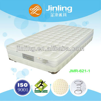 Bonnell spring mattress with natural latex foam in filling