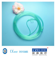disposable adult/pediatric/neonate nasal oxygen cannula with soft tip