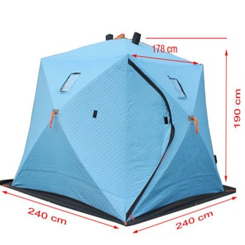 High quality triple layer ice fishing shelter for 3 4 for Cheap ice fishing shelters
