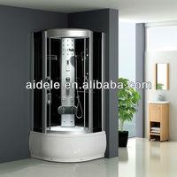 ABS hydromassage tempered glass steam shower cabin