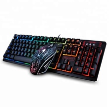 Wired 104Keys Backlit Multimedia Ergonomic Gaming Keyboard and Mouse with Laser Printing + 2400DPI 4D mouse K13