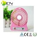 Three Speeds Portable Mini USB Rechargeable Desktop With LED Light Fan