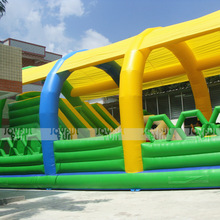 Custom New Design Outdoor Inflatable Tent Cover Shield Slide Playground