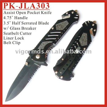 PK-JLA303 Series Glass Breaker Assist Opening Emergency Rescue Pocket Knives