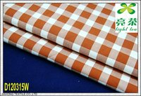 100% cotton white/orange check fabric