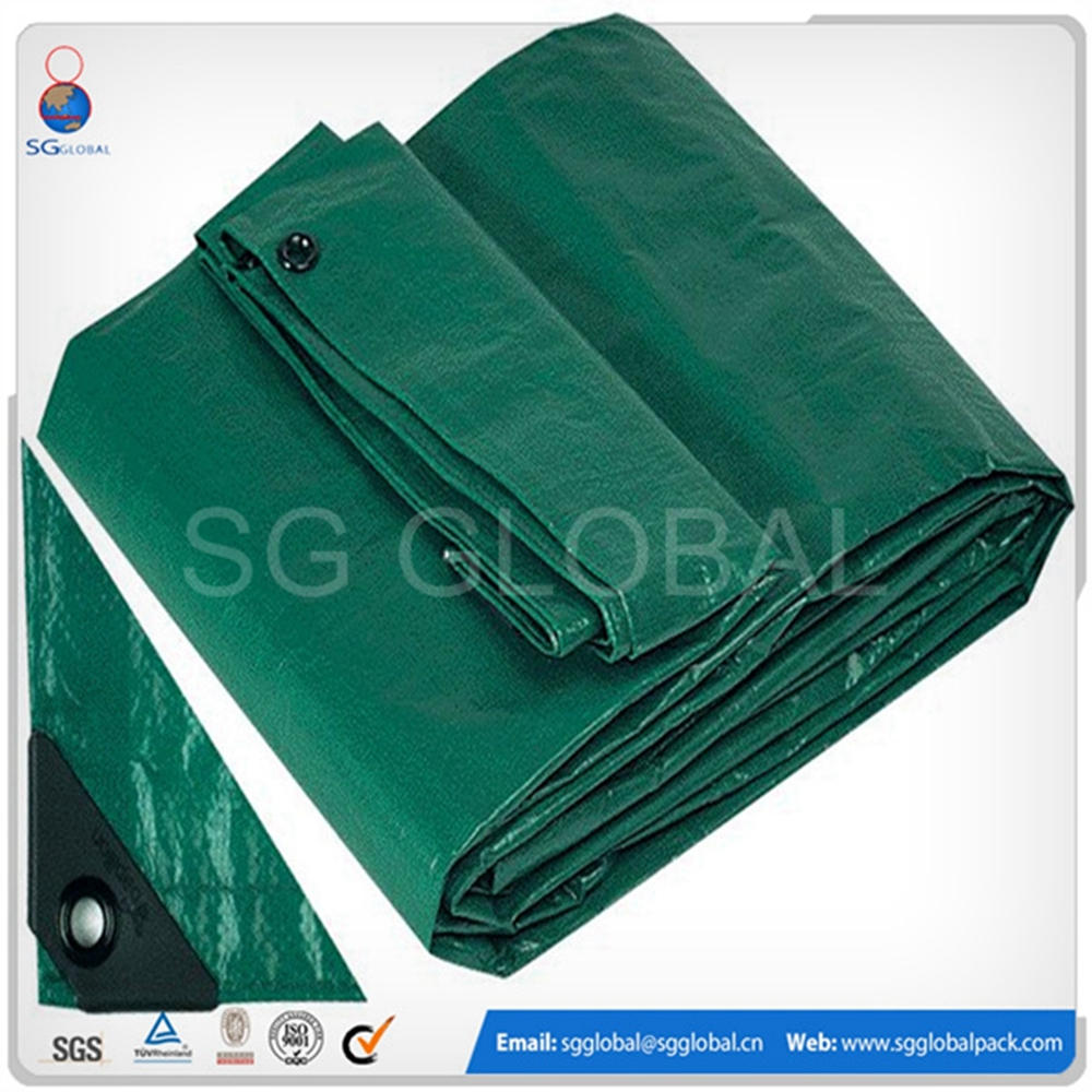 UV treated recycled plastic material fire resistant tarpaulin