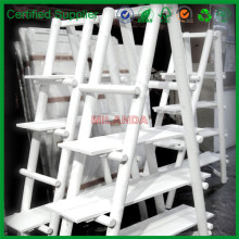 white decorative bamboo ladder