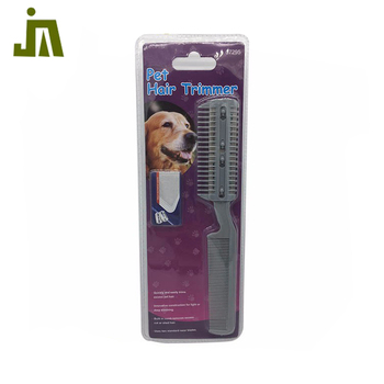 Use two standard custom design pet comb plastic hair trimmer